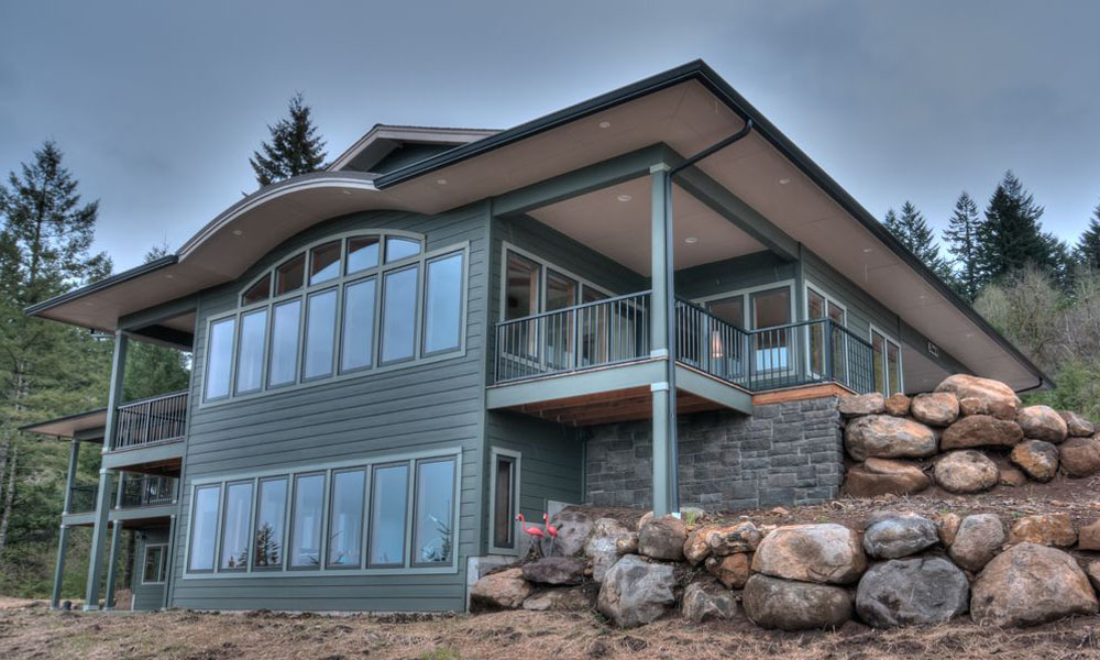 Frank Lloyd Wright Style Exterior